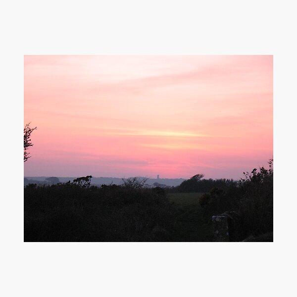 Cornish Sunset (5983) Photographic Print