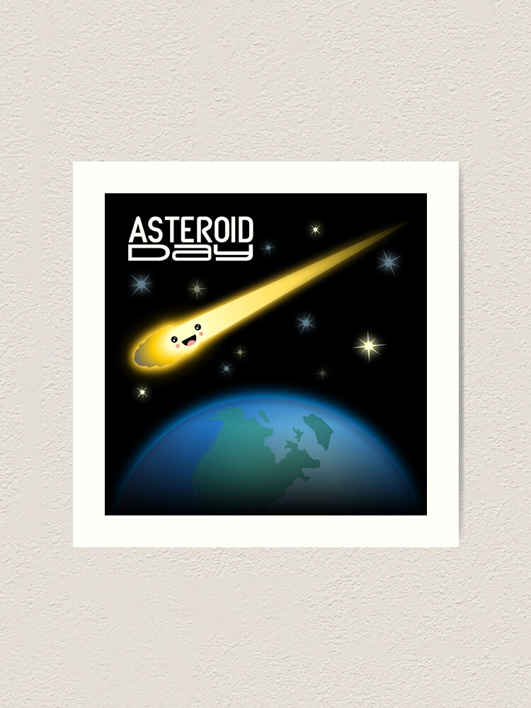 Alternate view of Asteroid Day Art Print