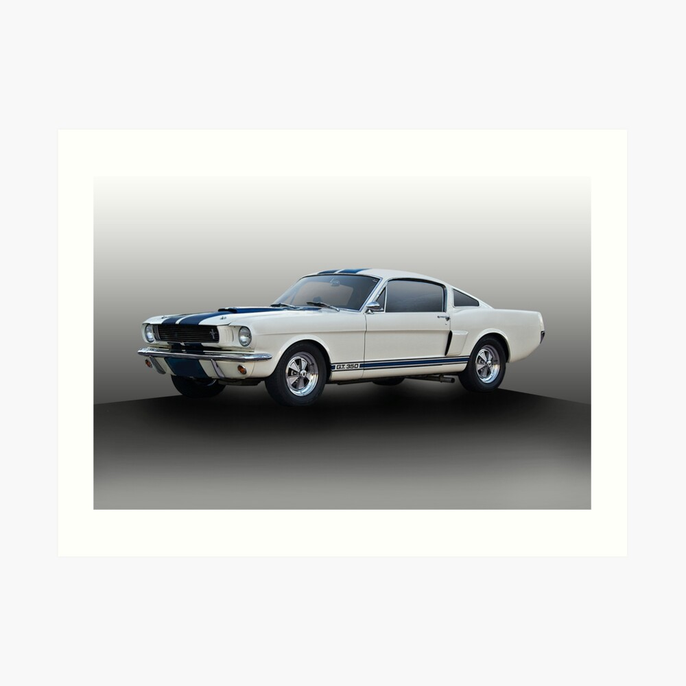 1966 ford mustang g t 350 i art print