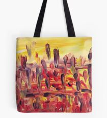 Downtown Feather Town Tote Bag