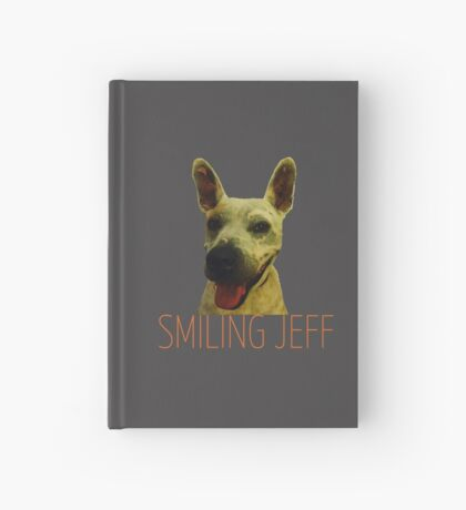 Smiling Jeff with Orange Text Hardcover Journal