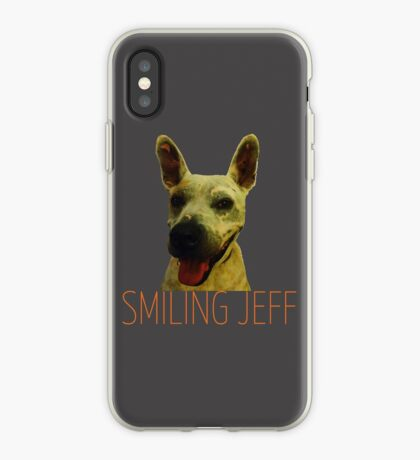 Smiling Jeff with Orange Text iPhone Case