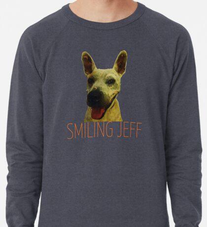 Smiling Jeff with Orange Text Lightweight Sweatshirt
