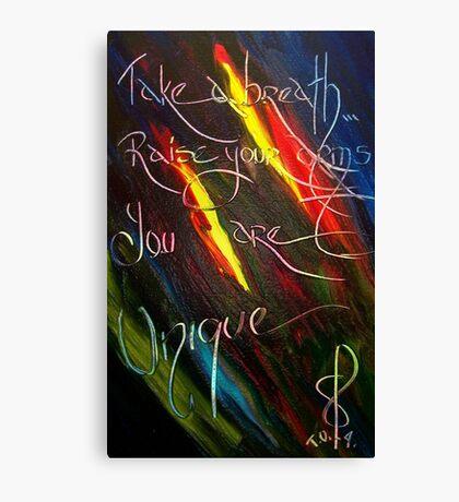 YOU ARE UNIQUE- artist quote TOLA Canvas Print