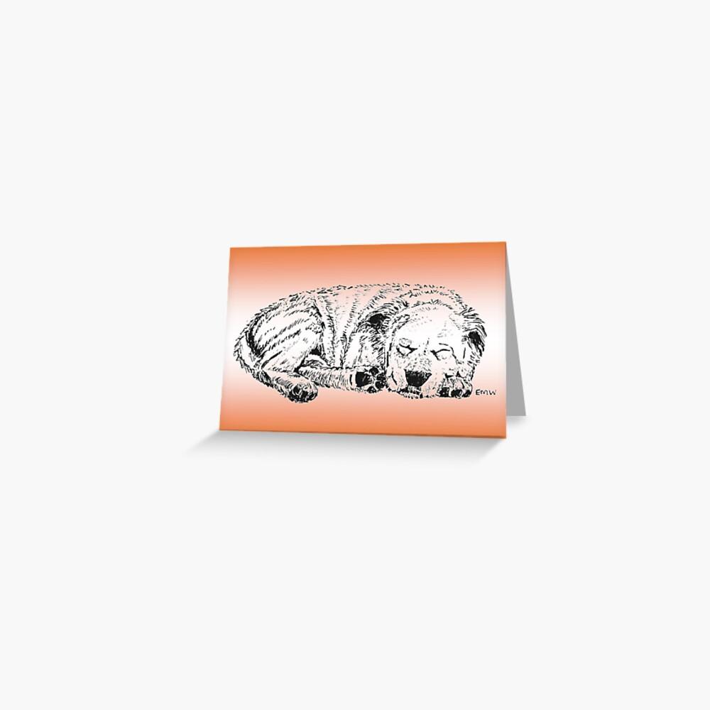 Let Sleeping Dogs Lie Greeting Card (Blank) Greeting Card
