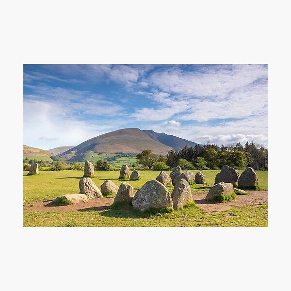 Castlerigg  Stone Circle and Blencathra, Lake District  Photographic Print