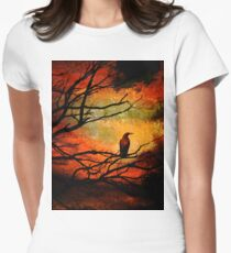 Basho's Crow Women's Fitted T-Shirt