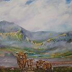 Morning mist on Y Garn, Snowdonia. by Joe Trodden