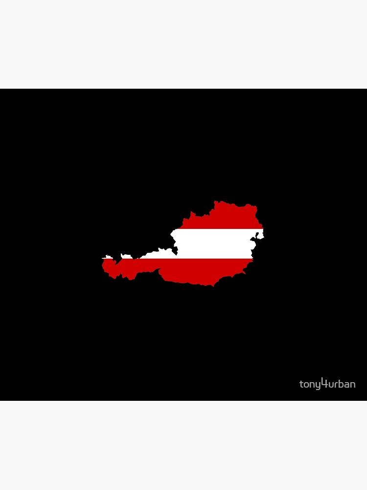 Austria flag map by tony4urban