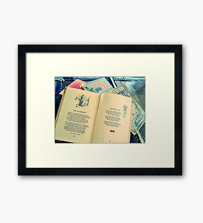 Growing Up with Books Framed Print