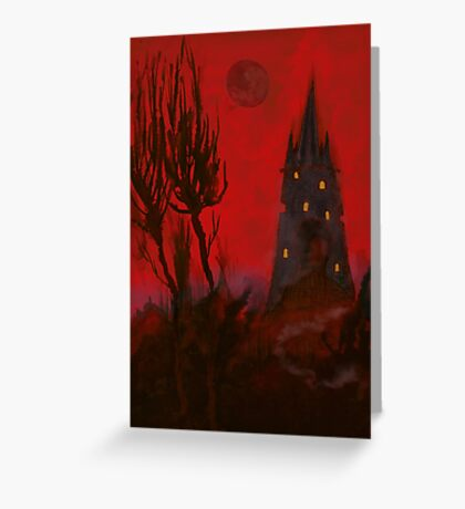 Nightmare Whispers Tower Greeting Card