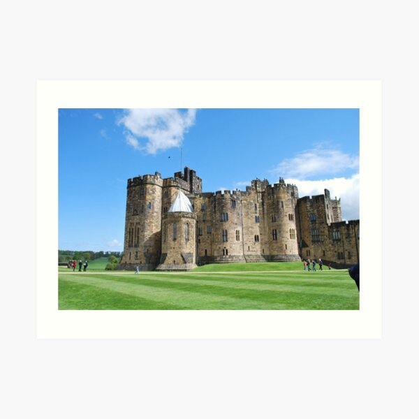 A View inside Alnwick Castle Walls Art Print