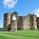 A View inside Alnwick Castle Walls by Cathy Jones