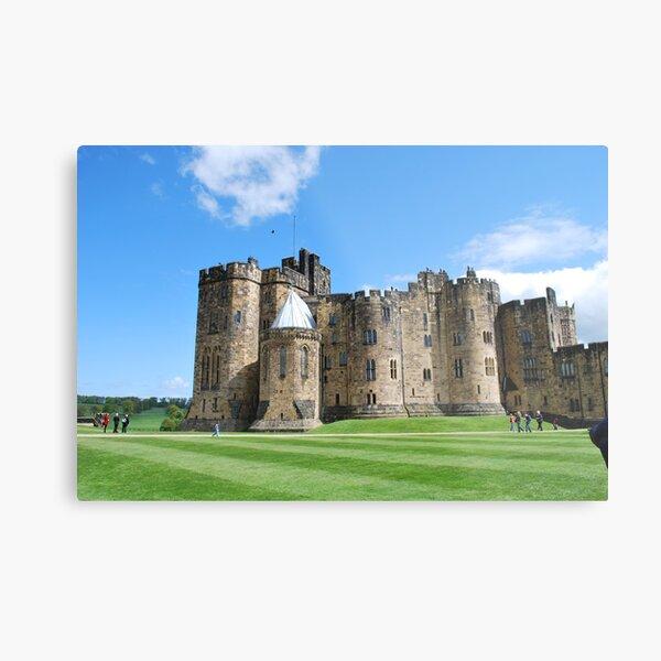 A View inside Alnwick Castle Walls Metal Print