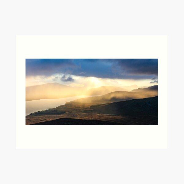 Evening shower over Loch Fannich Art Print