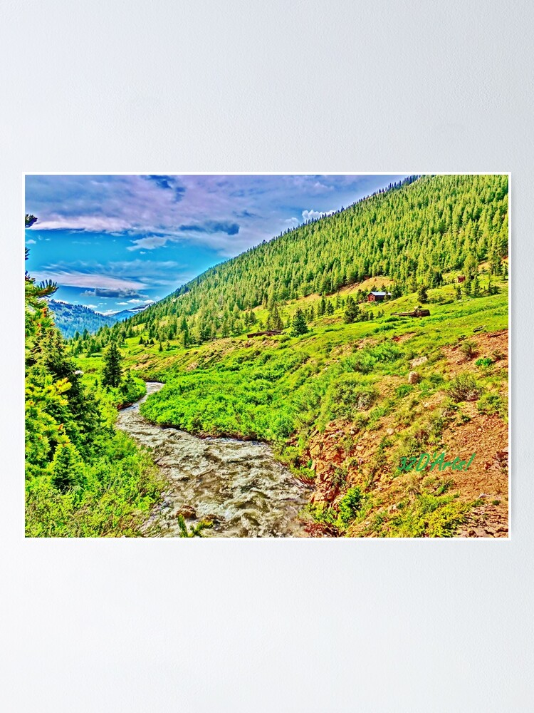 Alternate view of Roaring Fork River at Independence Ghost Town Poster