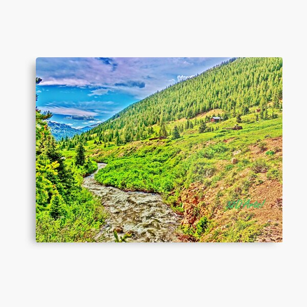 Roaring Fork River at Independence Ghost Town Metal Print
