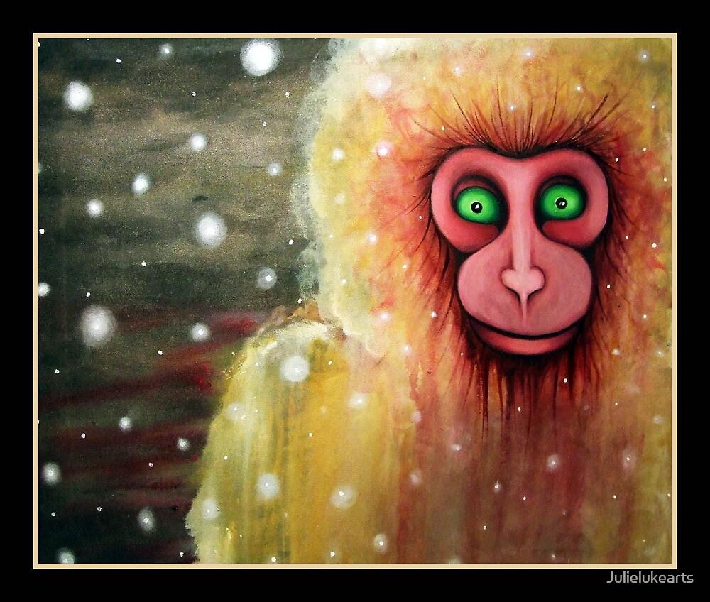 cryptozoology :the lucca snow monkey by Julielukearts