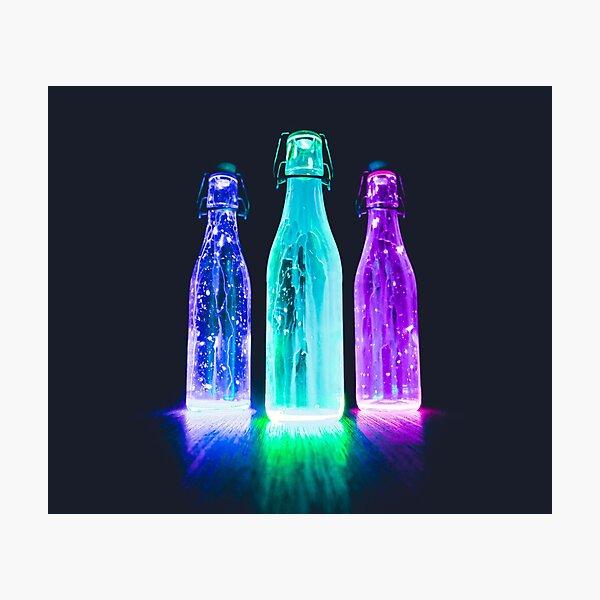 Glow in the dark bottles  Photographic Print