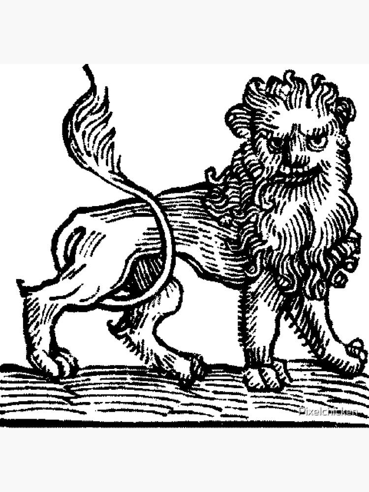 Medieval Zodiac Horoscope Leo the Lion by Pixelchicken