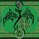 Irischer grüner Drache von tigressdragon
