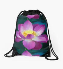 Spiritual Kloth Plotus by Kordial Orange Drawstring Bag