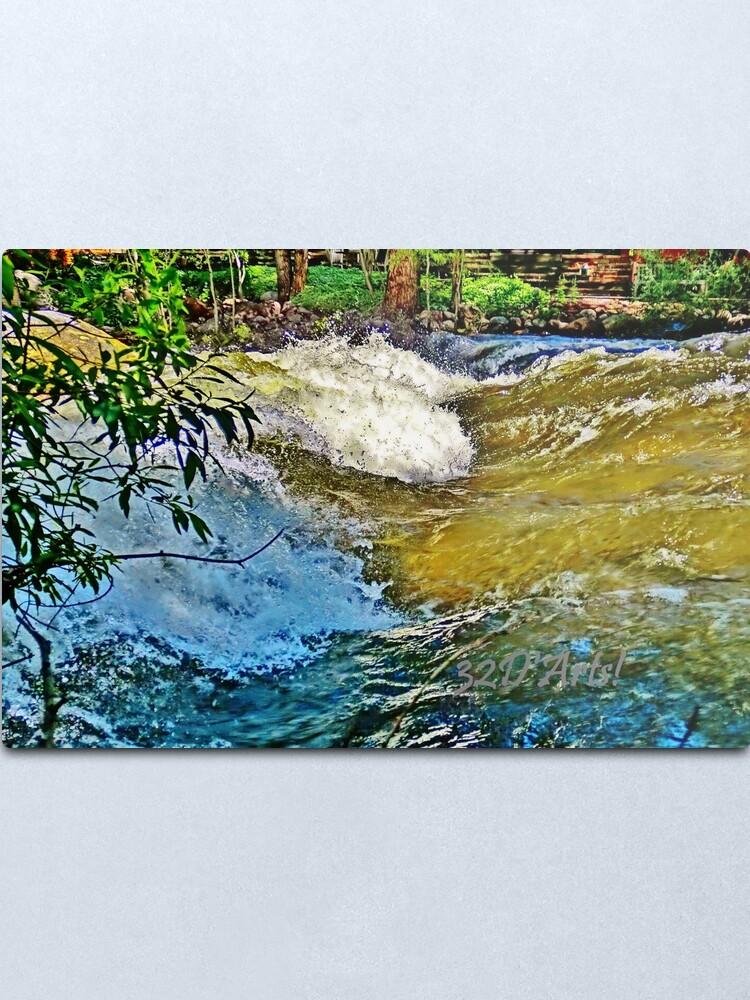 Alternate view of Roaring Fork River Wave, Aspen Metal Print