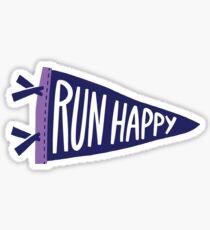 Brooks Run glücklich Sticker
