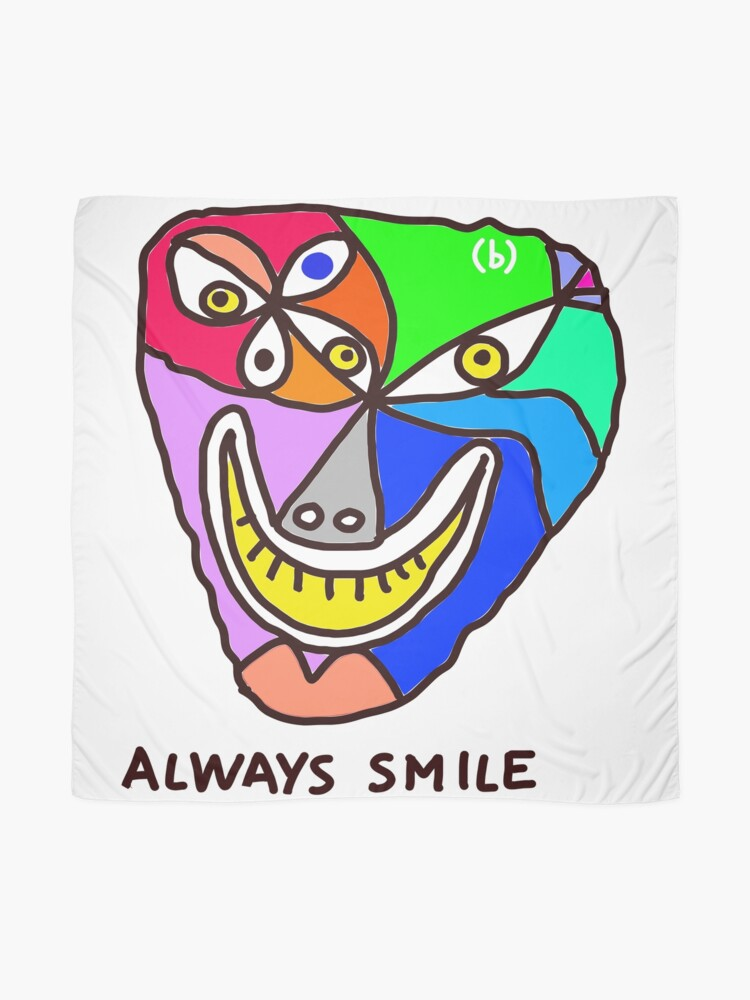 Alternate view of Always Smile (monster) Scarf