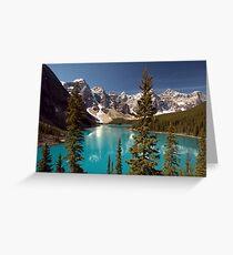 Lake Louise 2 Golden Images Greeting Card