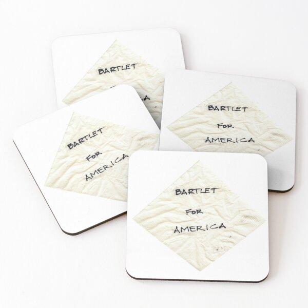 Bartlet for American Napkin Coasters (Set of 4)