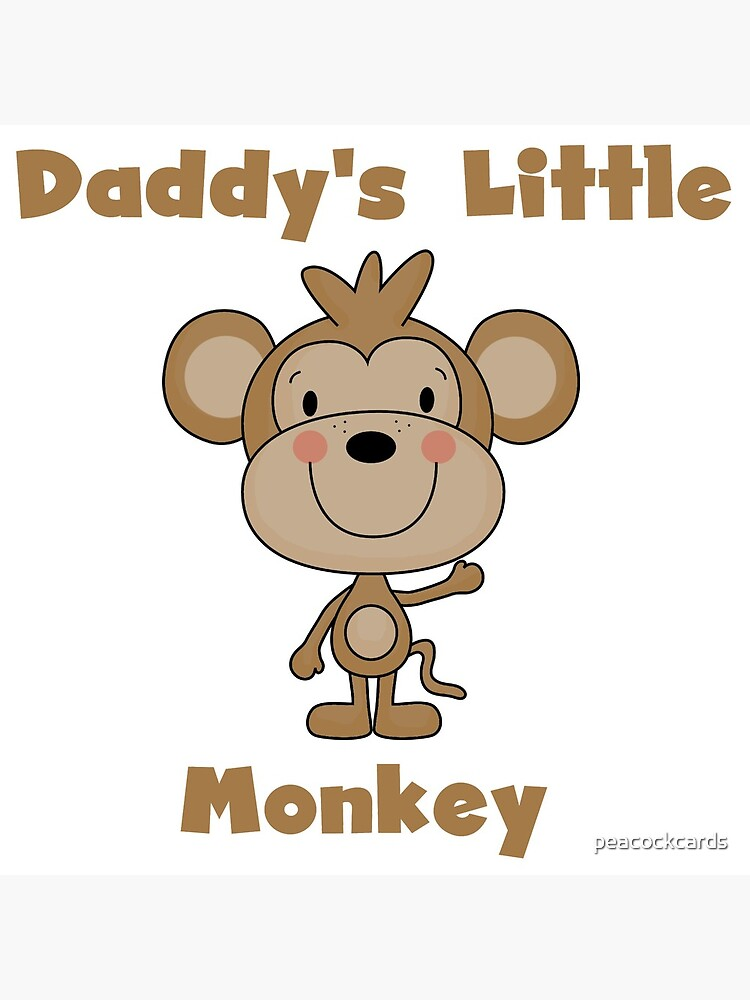 Kids Daddy's Little Monkey by peacockcards