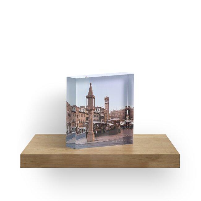 In Piazza Erbe, Verona, Italy by L Lee McIntyre