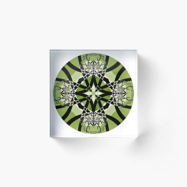 Spring Serenade Mandala Acrylic Block