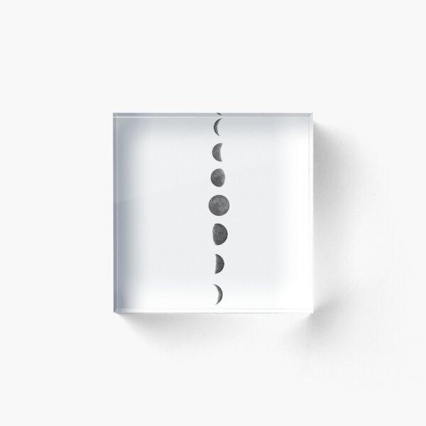 Moon Phases Acrylic Block