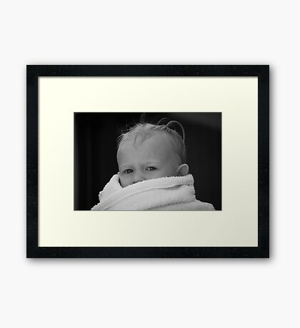 """The Stare"" BW Framed Print"
