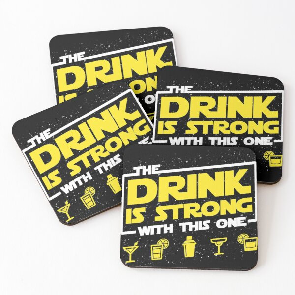Strong Drink Coasters (Set of 4)