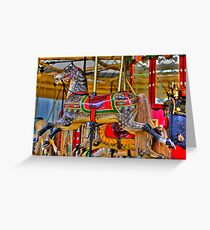 Merry -Go - Round Greeting Card