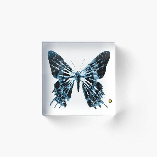 """Fringe Butterfly Glyph Letter """"P"""" Acrylic Block"""