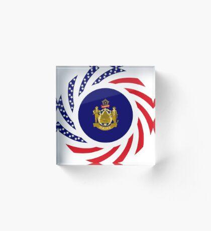 Maine Murican Patriot Flag Series 1.0 Acrylic Block