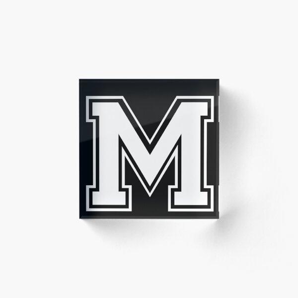 Letter - M (white) Acrylic Block