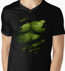 The Incredible Green Super Soldier Men's V-Neck T-Shirt