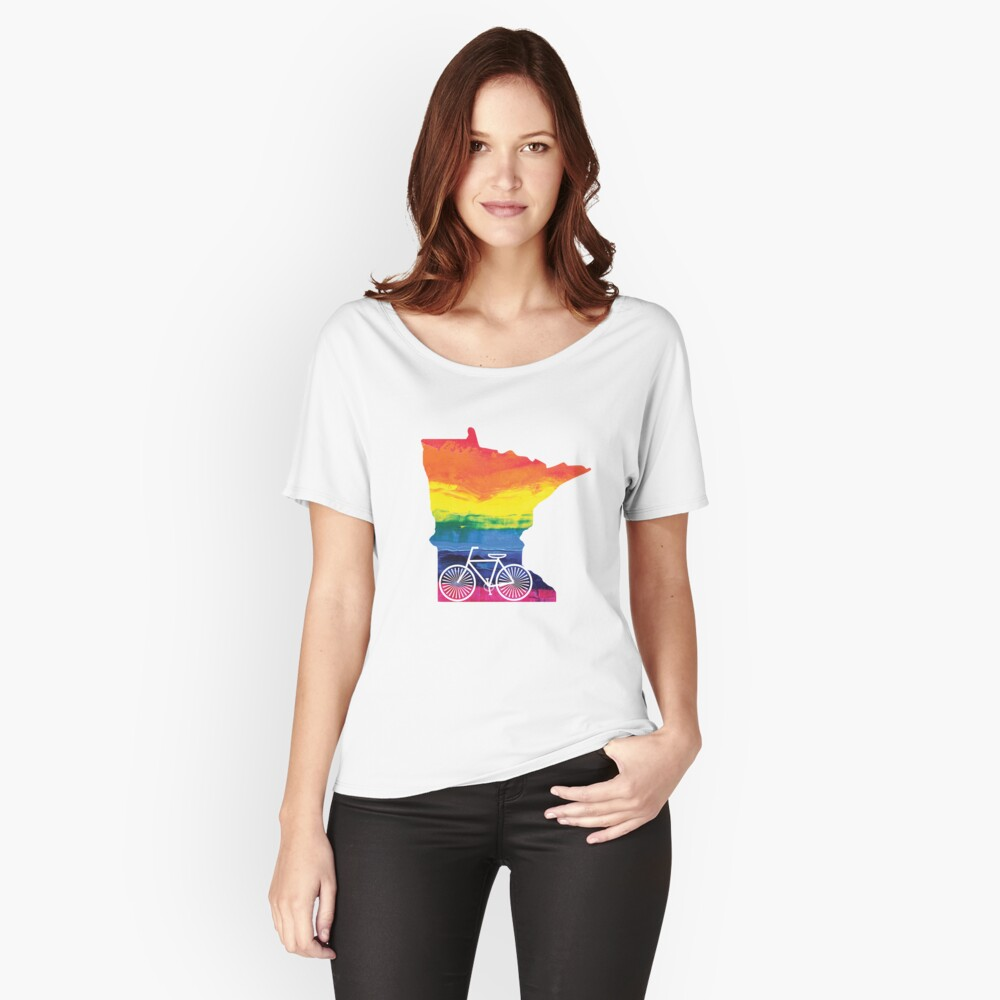 Minnesota Pride Bike Relaxed Fit T-Shirt