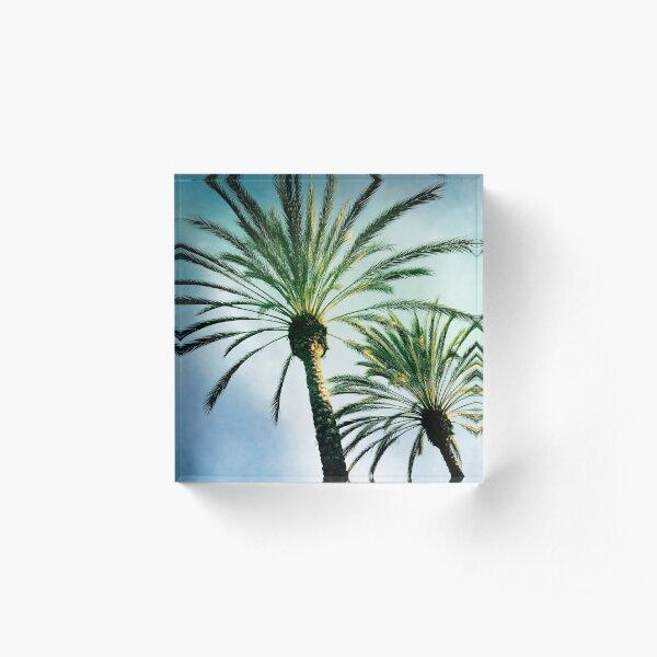 Two Palms Acrylic Block