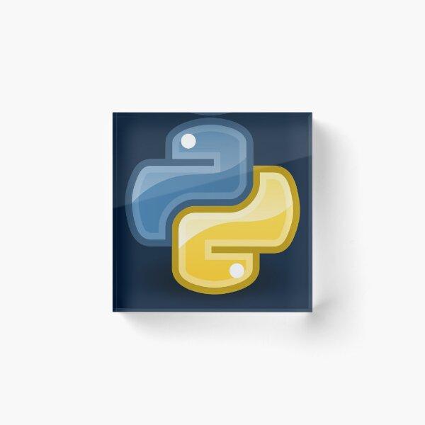 Python logo Acrylic Block