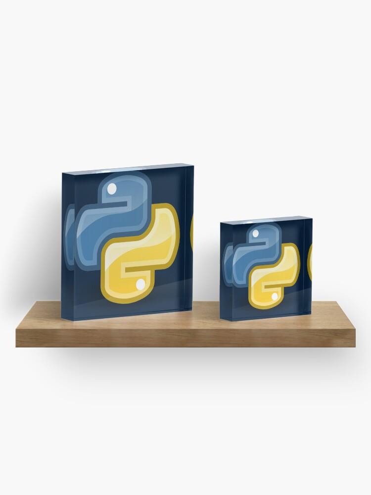 Alternate view of Python logo Acrylic Block