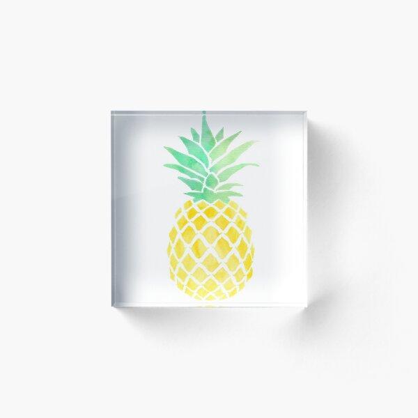 Wenn du eine Frucht wärst, wärst du ein Fineapple Acrylblock