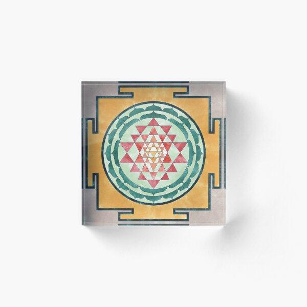 Sri Yantra 06 Acrylic Block