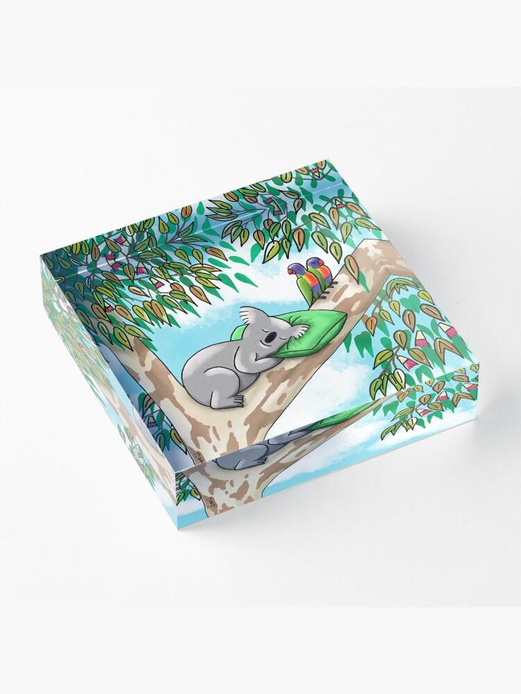 Alternate view of Sweet Dreams Sleepy Koala Acrylic Block