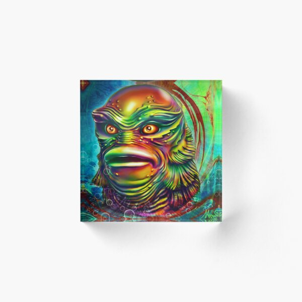 Creature from the black lagoon. Acrylic Block